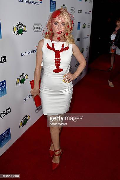 Emma Pyne attends the David Lynch Foundation's DLF Live presents The Music Of David Lynch at The Theatre at Ace Hotel on April 1 2015 in Los Angeles...