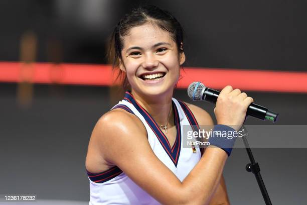 Emma Raducanu - portrait after the victory against Polona Hercog on day four of WTA 250 Transylvania Open Tour held in BT Arena, Cluj-Napoca 26...