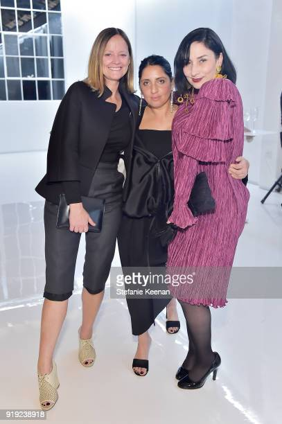 Emma Reeves Jasmin Shokrian and Rose Apodaca attend Mr Chow 50 Years on February 16 2018 in Vernon California