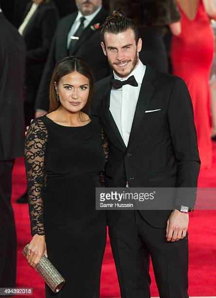Emma RhysJones and Gareth Bale attend the Royal Film Performance of 'Spectre' at Royal Albert Hall on October 26 2015 in London England