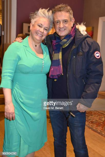 Emma Rice and David Pugh attend the press matinee after party for Brief Encounter at The Haymarket Hotel on March 11 2018 in London England