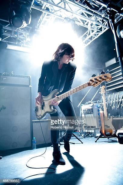 Emma Richardson of Band Of Skulls performs on stage at The Liquid Room on November 2, 2014 in Edinburgh, United Kingdom.