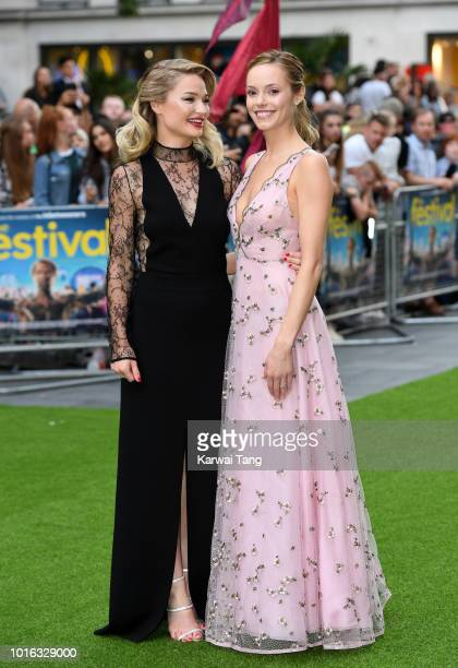 Emma Rigby and Hannah Tointon attend the World Premiere of 'The Festival' at Cineworld Leicester Square on August 13 2018 in London England