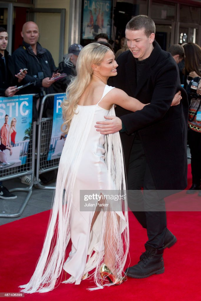 Emma Rigby and Will Poulter attend the UK Premiere of 'Plastic' at Odeon West End on April 29, 2014 in London, England.
