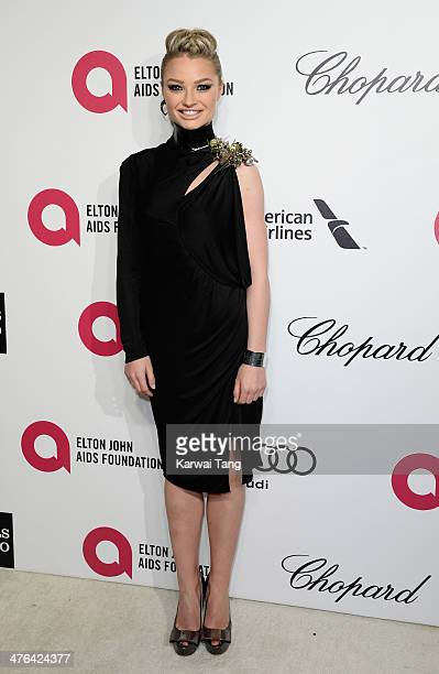 Emma Rigby arrives for the 22nd Annual Elton John AIDS Foundation's Oscar Viewing Party held at West Hollywood Park on March 2 2014 in West Hollywood...