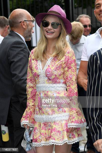 Emma Rigby attend day six of the Wimbledon Tennis Championships at All England Lawn Tennis and Croquet Club on July 06 2019 in London England