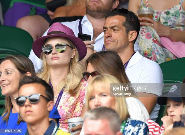 Emma Rigby attends day six of the Wimbledon Tennis Championships at All England Lawn Tennis and Croquet Club on July 06 2019 in London England