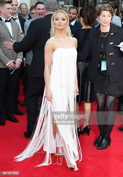 Emma Rigby attends the UK Premiere of Plastic at Odeon West End on April 29 2014 in London England