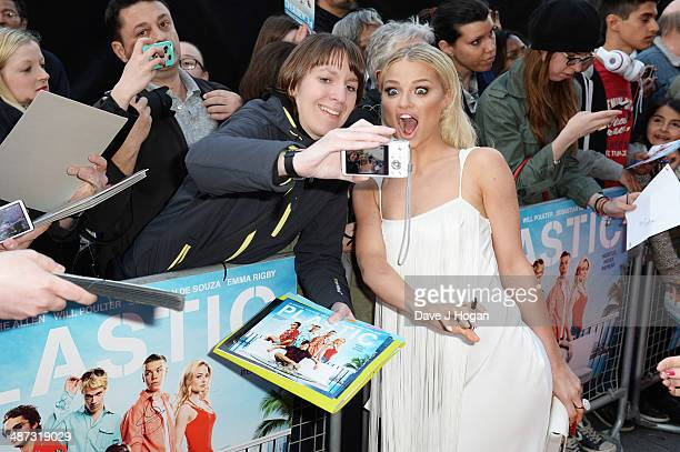 Emma Rigby attends the UK premiere of 'Plastic' on April 29 2014 in London England