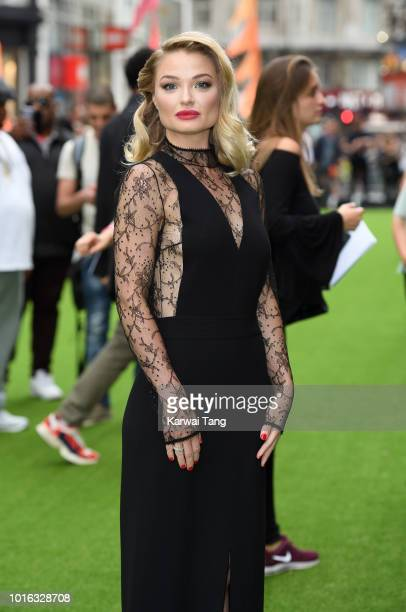 Emma Rigby attends the World Premiere of 'The Festival' at Cineworld Leicester Square on August 13 2018 in London England