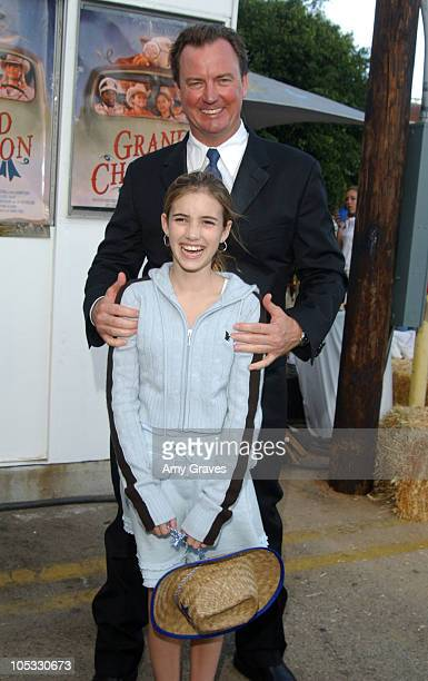 Emma Roberts and Barry Tubb writer/director during Grand Champion World Premiere AfterParty at Crest Theatre in Los Angeles CA United States