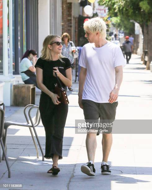 Emma Roberts and Evan Peters are seen on August 04 2018 in Los Angeles California
