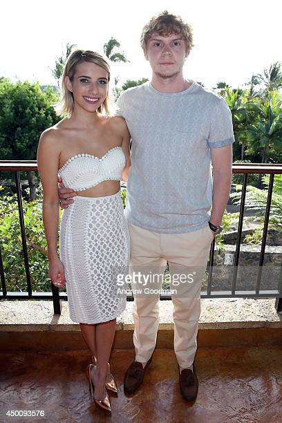 Emma Roberts and Evan Peters attend the Opening Night Reception for the 2014 Maui Film Festival at Wailea on June 4 2014 in Wailea Hawaii