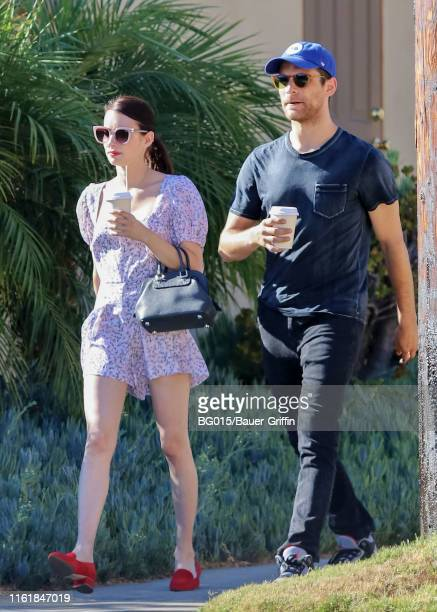 Emma Roberts and Garrett Hedlund are seen on August 15 2019 in Los Angeles California