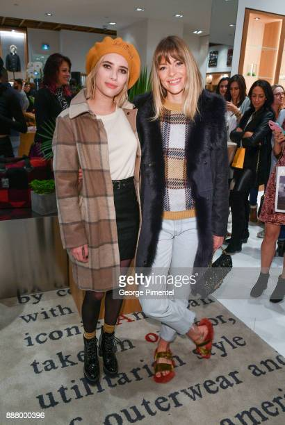 Emma Roberts and Jaime King attend Woolrich Yorkdale Grand Opening at Yorkdale Shopping Center on December 7 2017 in Toronto Canada
