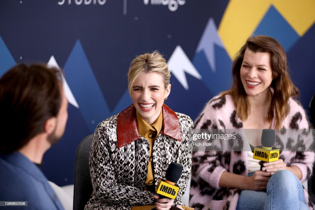 Emma Roberts And Milla Jovovich Of Paradise Hills Attend The Imdb