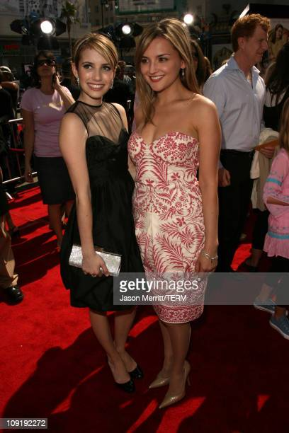 Emma Roberts and Rachael Leigh Cook during Nancy Drew Los Angeles Premiere Red Carpet at Grauman's Chinese Theater in Hollywood California United...