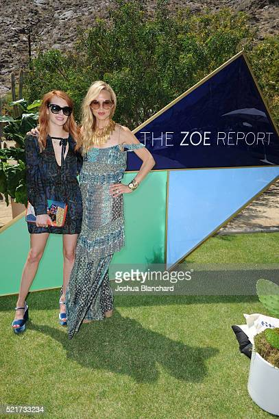 Emma Roberts and Rachel Zoe arrive at ZOEasis presented by The Zoe Report and Guess on April 16 2016 in Palm Springs California