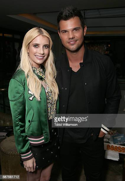 Emma Roberts and Taylor Lautner attend the FOX Summer TCA Press Tour on August 8 2016 in Los Angeles California