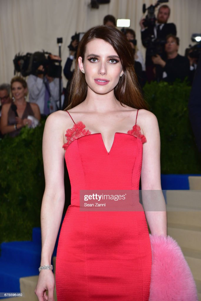 Emma Roberts arrives at 'Rei Kawakubo/Comme des Garcons: Art Of The In-Between' Costume Institute Gala at The Metropolitan Museum on May 1, 2017 in New York City.