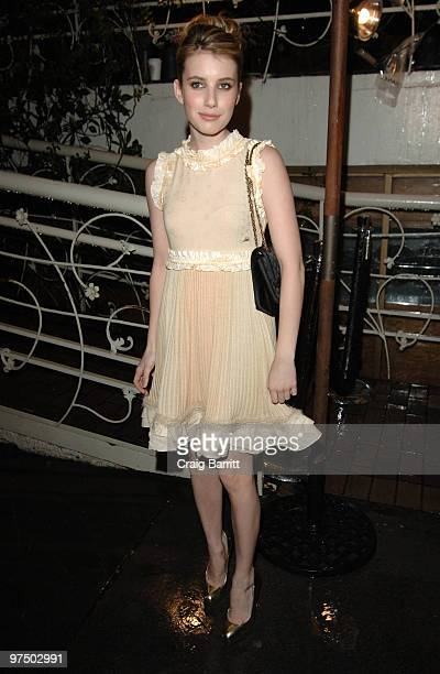 Emma Roberts arrives at the Chanel And Charles Finch PreOscar Party Celebrating Fashion And Film at Madeo Restaurant on March 6 2010 in Los Angeles...