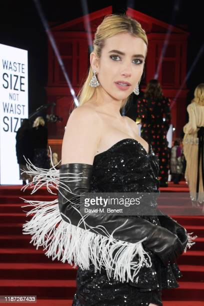 Emma Roberts arrives at The Fashion Awards 2019 held at Royal Albert Hall on December 2 2019 in London England