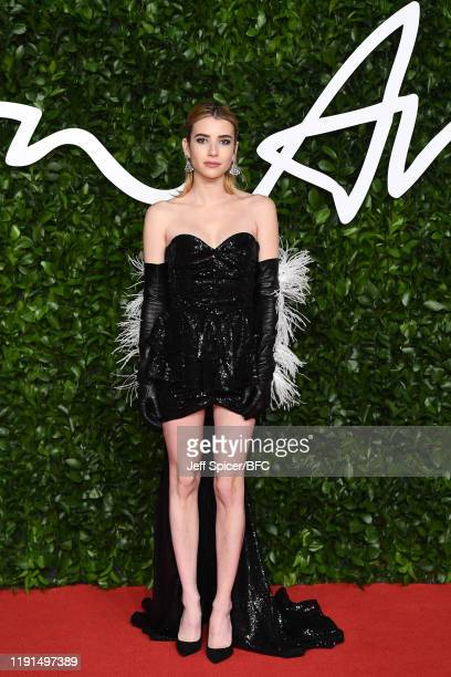 Emma Roberts arrives at The Fashion Awards 2019 held at Royal Albert Hall on December 02, 2019 in London, England.