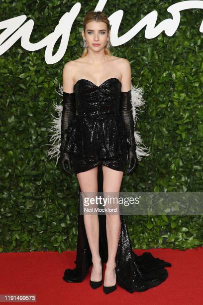Emma Roberts arrives at The Fashion Awards 2019 held at Royal Albert Hall on December 02 2019 in London England