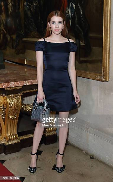 Emma Roberts attends as Christian Dior showcases its spring summer 2017 cruise collection at Blenheim Palace on May 31 2016 in Woodstock England