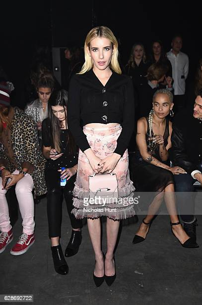 Emma Roberts attends Coach 75th Anniversary Women's PreFall and Men's Fall Show on December 8 2016 in New York City