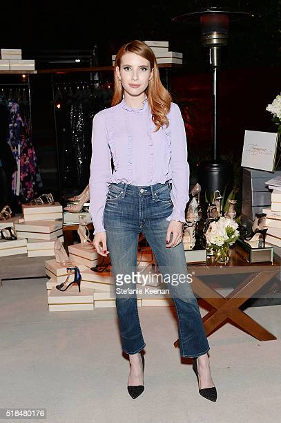 Emma Roberts attends Imagine Vince Camuto Launch Event at the Home of The A List's Ashlee Margolis on March 31 2016 in Beverly Hills California