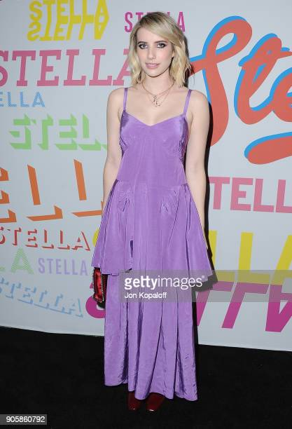 Emma Roberts attends Stella McCartney's Autumn 2018 Collection Launch on January 16 2018 in Los Angeles California