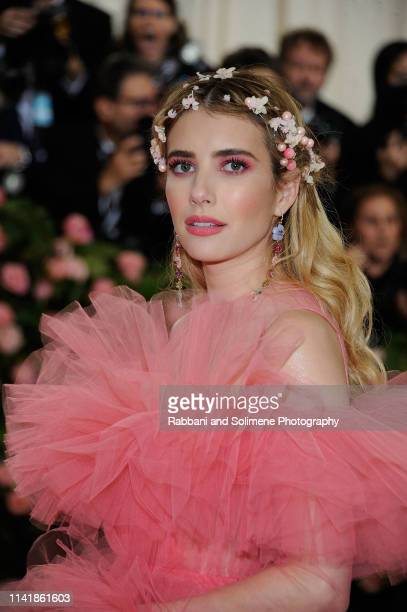 Emma Roberts attends The 2019 Met Gala Celebrating Camp Notes On Fashion Arrivalsat The Metropolitan Museum of Art on May 6 2019 in New York City
