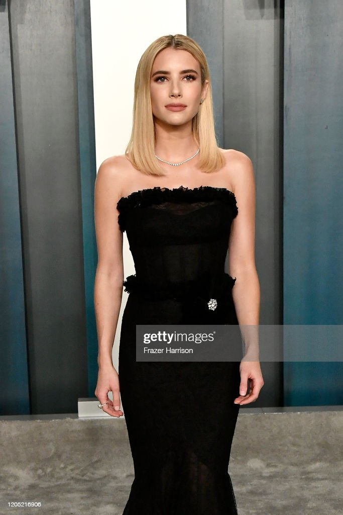 Emma Roberts Attends The 2020 Vanity Fair Oscar Party Hosted By Foto Jornalistica Getty Images