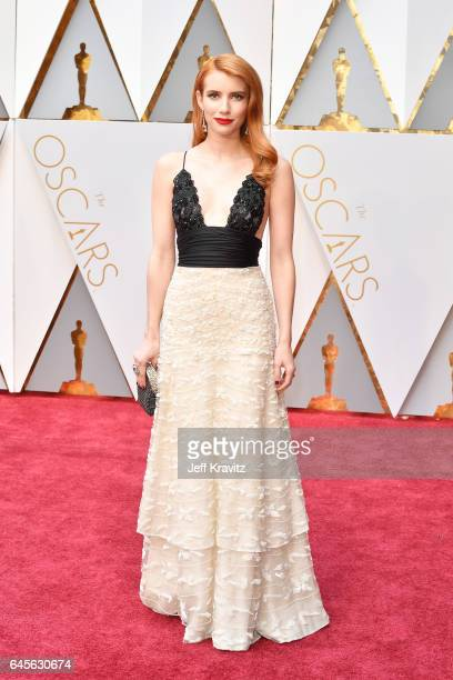 Emma Roberts attends the 89th Annual Academy Awards at Hollywood Highland Center on February 26 2017 in Hollywood California