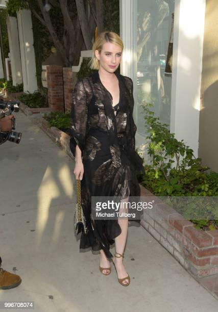 Emma Roberts attends the Beats By Dre for Violet Grey party on July 11 2018 in West Hollywood California