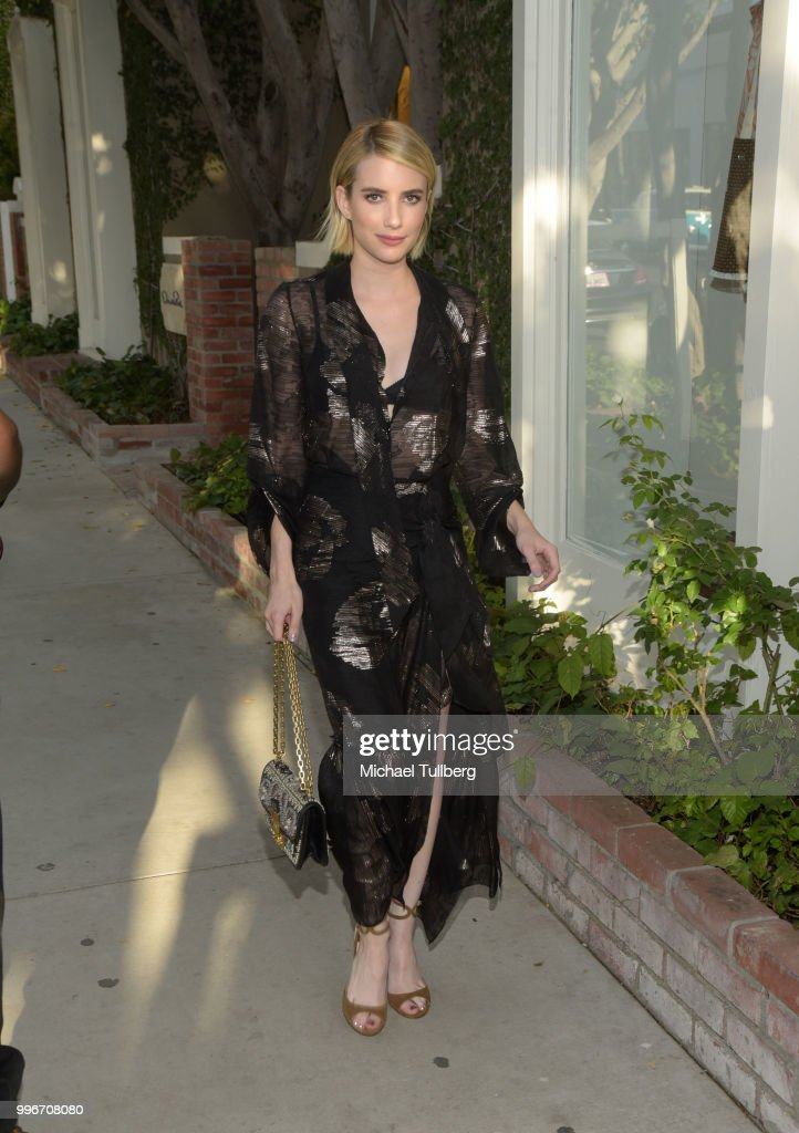 Emma Roberts attends the Beats By Dre for Violet Grey party on July 11, 2018 in West Hollywood, California.