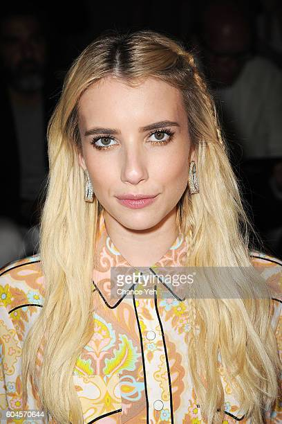 Emma Roberts attends the Coach 1941 Women's Spring 2017 Show at Pier 76 on September 13 2016 in New York City