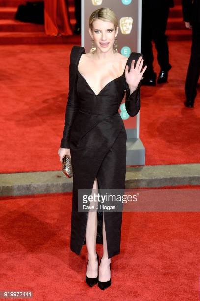 Emma Roberts attends the EE British Academy Film Awards held at Royal Albert Hall on February 18 2018 in London England