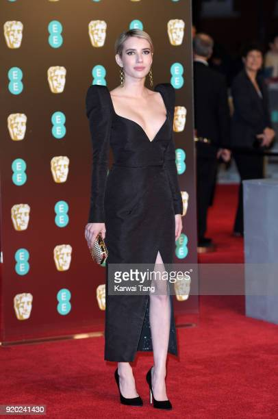 Emma Roberts attends the EE British Academy Film Awards held at the Royal Albert Hall on February 18 2018 in London England