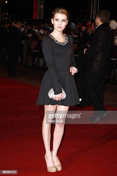 Emma Roberts attends the European Premiere of 'Valentine's Day' at Odeon Leicester Square on February 11, 2010 in London, England.