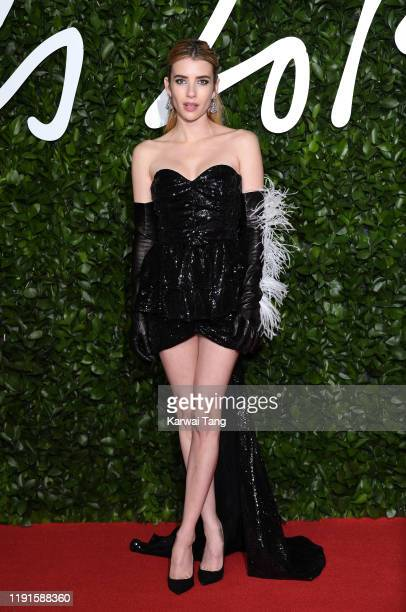 Emma Roberts attends The Fashion Awards 2019 at the Royal Albert Hall on December 02, 2019 in London, England.