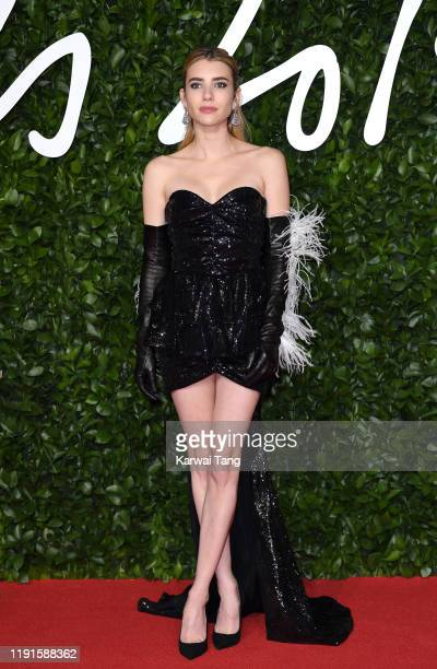 Emma Roberts attends The Fashion Awards 2019 at the Royal Albert Hall on December 02 2019 in London England