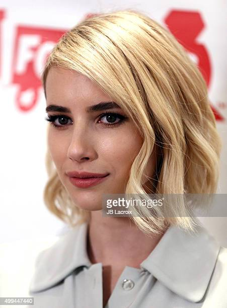 Emma Roberts attends the Godiva's 'Hot Chocolate For A Cause' event on December 1 2015 in Universal City California
