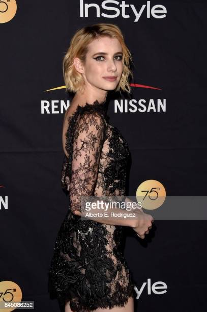 Emma Roberts attends the HFPA InStyle annual celebration of 2017 Toronto International Film Festival at Windsor Arms Hotel on September 9 2017 in...
