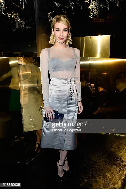 Emma Roberts attends the HM show as part of the Paris Fashion Week Womenswear Fall/Winter 2016/2017 on March 2 2016 in Paris France
