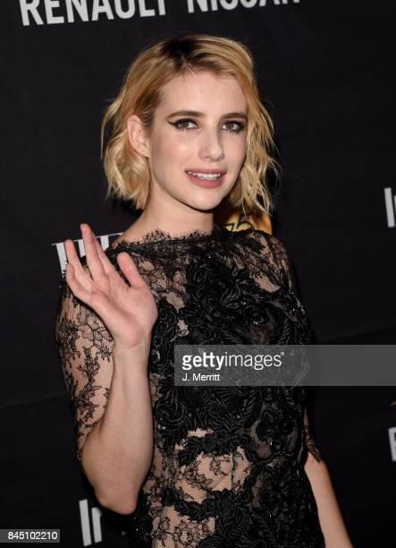 Emma Roberts attends The Hollywood Foreign Press Association and InStyle's annual celebrations of the 2017 Toronto International Film Festival at...