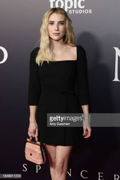 """Emma Roberts attends the Los Angeles premiere of Neon's """"Spencer"""" at DGA Theater Complex on October 26, 2021 in Los Angeles, California."""