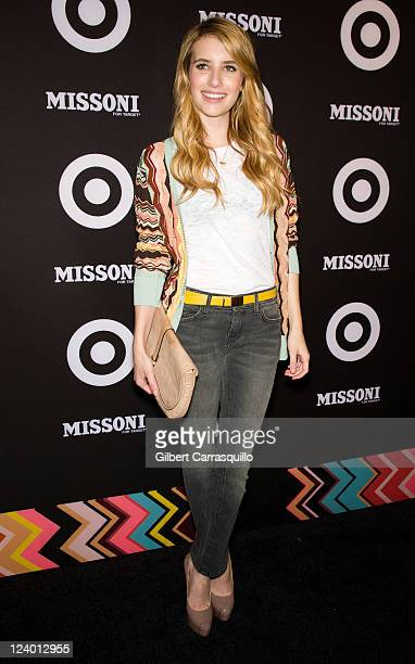 Emma Roberts attends the Missoni for Target Collection launch at the Missoni for Target PopUp Store on September 7 2011 in New York City