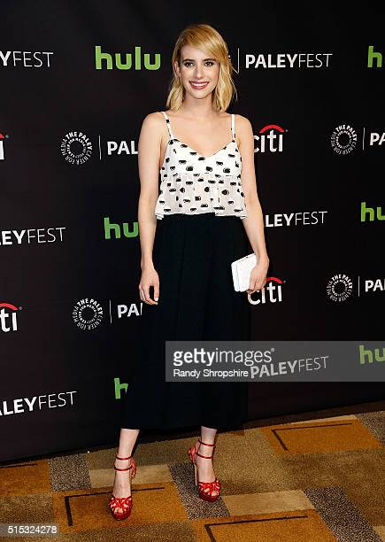 Emma Roberts attends The Paley Center for Media's 33rd Annual PaleyFest Los Angeles 'Scream Queens' at Dolby Theatre on March 12 2016 in Hollywood...